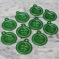 10 Logo Engraved Round Tags