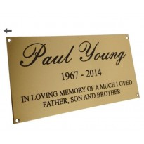 Brass Plaque Engraved Sign 6x3