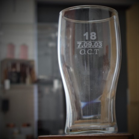 Big Number Persoanlised Pint Glass