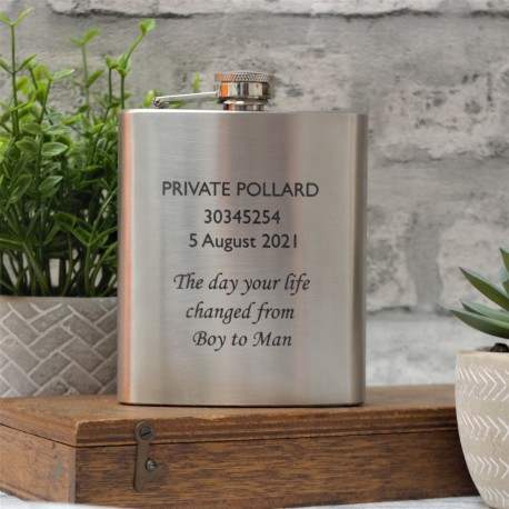 2 Font Any Message Stainless Steel Hip Flask