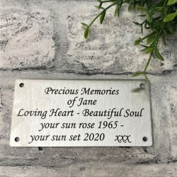 Stainless Steel Plaque Engraved 4x2