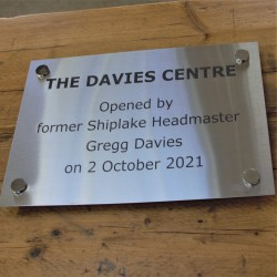 Brushed Stainless Steel Plaque A4