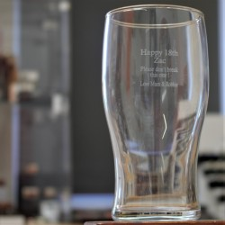 Engraved Pint Glass Any Message