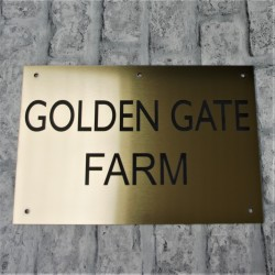 Engraved House Sign Gold Laminate