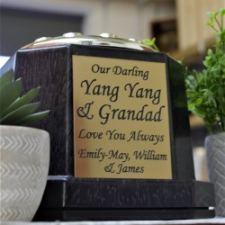 Memorial Grave vase with engraved Plaque