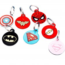 Super Hero Pet ID Tags